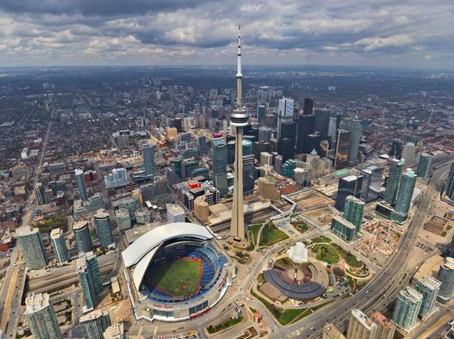 Widok na miasto Toronto w Kandzie