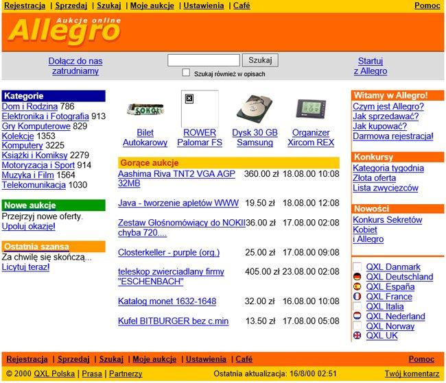 Maszyna czasu i Allegro.pl kiedyś
