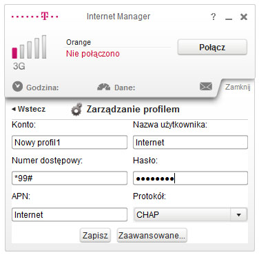 Profil APN Orange