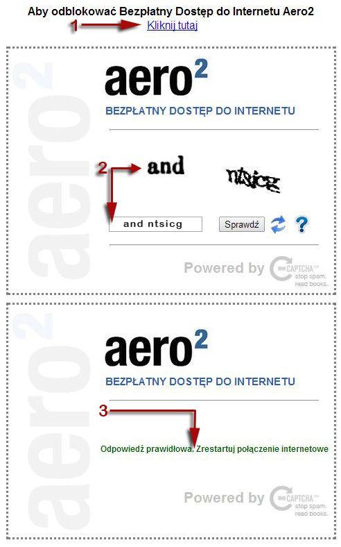 Kod CAPTCHA w Aero2