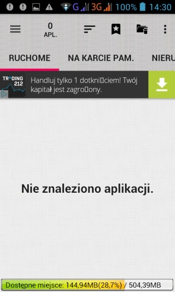 AppMgr zwolnij pamięć
