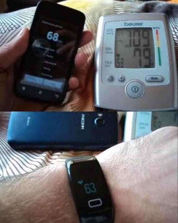 Porównanie wyniku pulsu z 3 różnych urządzeń